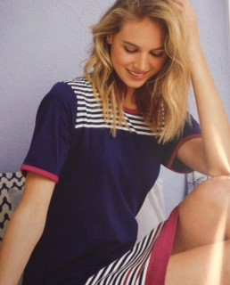 Navy striped nightie